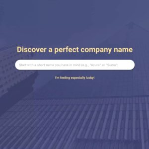 キーワードを入力するだけでサービス名やブログ名候補を表示してくれる「Naminum」